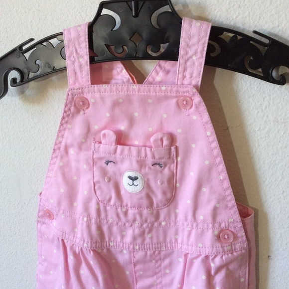 Carter's Other - Teddy Bear Pocket Snap Girl's Overalls